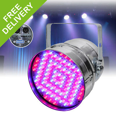 Equinox Polished Chrome Party Par 56 LED Can Stage Lighting Disco DJ DMX Light