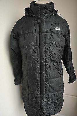 North Face Womens Large Long Goose Down 600 Black Jacket  / Parka / Coat Gc19