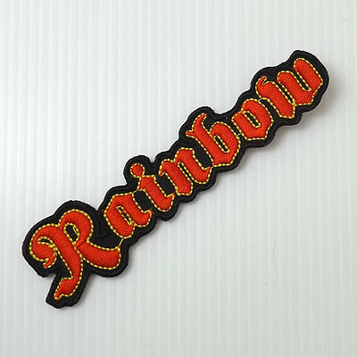 1pc.x rainbow rock music band embroidered iron on or sew on patch badge apparel