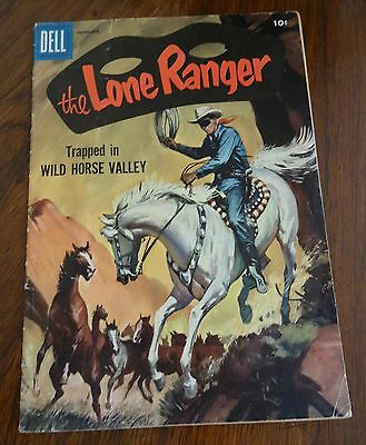 Dell Comic Book The Lone Ranger Trapped in Wild Horse Valley December 1956 #102