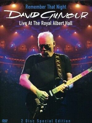 David Gilmour: Remember That Night - Live fr (2007, DVD NUEVO) Digipa (REGION 1)