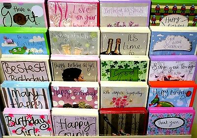 9.9p AMAZING OFFER! 180 TRACKS QUALITY CARDS 30 DESIGNS x6, WRAPPED
