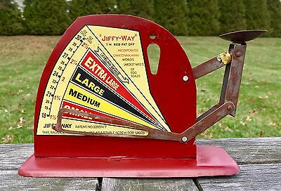 JIFFY WAY Vintage Style Tin Poultry Egg Scale, Brower Mfg. Co., Quincy, Illinois