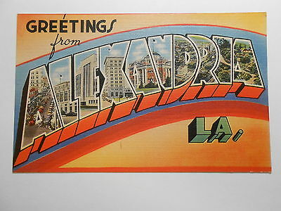 Old Postcard. GREETINGS FROM ALEXANDRIA, LOUISIANA