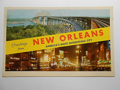 Old Postcard. GREETINGS FROM NEW ORLEANS, LOUISIANA