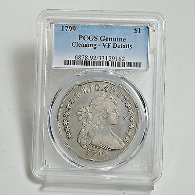 1799 Draped Bust Silver Dollar - PCGS - VF Details (#3619)