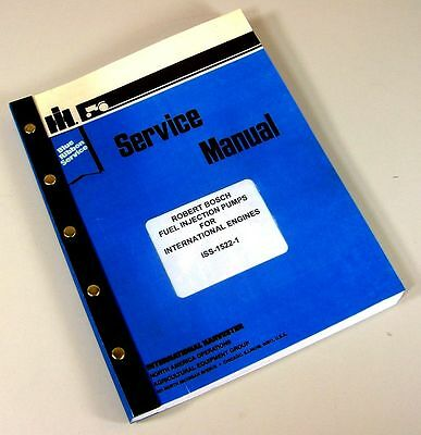 Robert Bosch Ep Va Rotary Diesel Fuel Injection Pump Service Repair Shop Manual