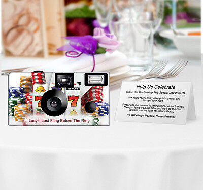 20 Royal Casino Disposable Cameras-PERSONALIZE-wedding camera/anniversary/party
