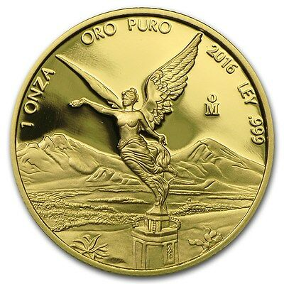2016 Mexican Libertad 1 oz .999 Gold Round Proof Coin - ONLY 2,100 MINTED!!!