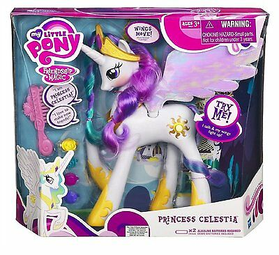 My Little Pony Exclusive Princess Celestia with Talking Light Up Wings! Toy BNIB