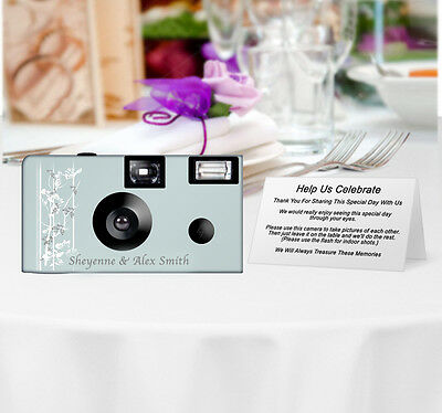 20 Elegance of Romance Disposable Cameras-PERSONALIZE-wedding camera/anniversary