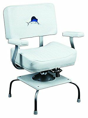 Wise 8WD4200-710 Helm Chair with Embroidered Sailfish, Quad Base Stand and Rod