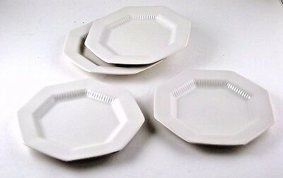"Plates Bread Butter Dessert 6.5"" Independence Ironstone Castleton Japan White 4"