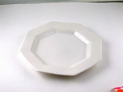 "Plate Luncheon 9"" Independence Ironstone Castleton Japan White VTG Small Chip"