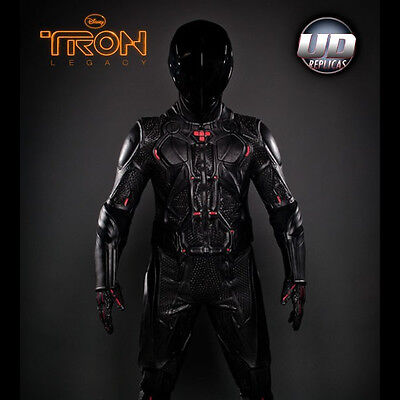 UD REPLICAS TRON Legacy Rinzler Leather Motorcycle Jacket SZ MED NEW