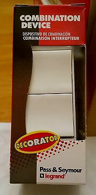 PASS & SEYMOUR Decorator 2-Single Pole White Light Switch TM811-WCC NEW IN BOX