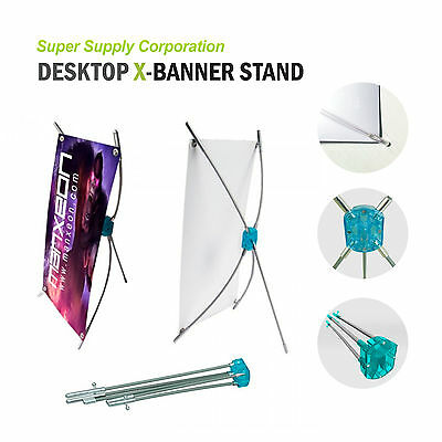 "10""x15"" Desktop Tabletop Countertop X Banner Stand for trade show store display"