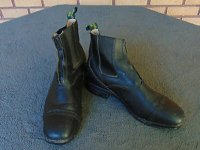Leather Mountain Horse Boots Stirrup Control System SCS 3 Shoes Paddock Riding