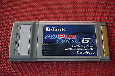 D LINK AIRPLUS XTREME G DWL G650 ADAPTER TREIBER WINDOWS 10