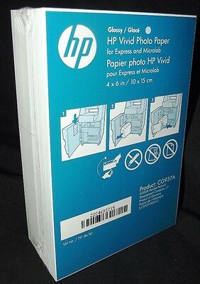 "HP Photobook Inkjet GLOSSY Printer Paper 6x4"" White Pkt 200 P/n CG937a"