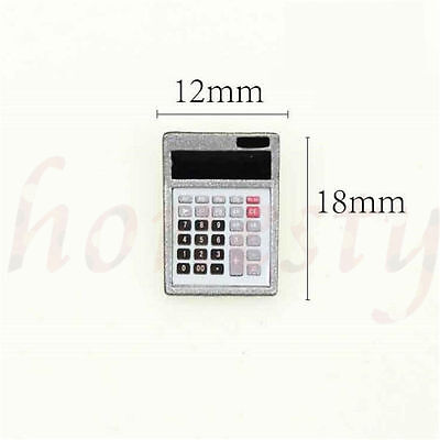 1:12 Dollhouse Metal Calculator Home Office School Miniature Accessory Decor New