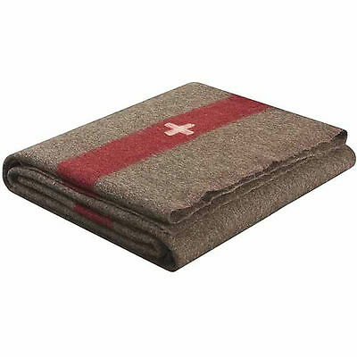 Brand New Wool Swiss Army Reproduction Blanket