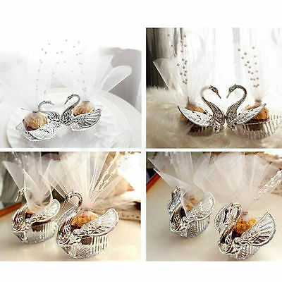 European Romantic Swan Wedding Favor Gift Box Candy Boxes Favors Celebration