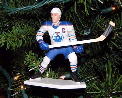 wayne GRETZKY edmonton OILERS hockey NHL xmas TREE ornament HOLIDAY jersey WHITE
