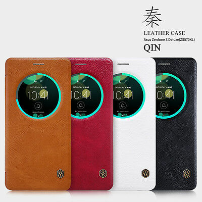 NILLKIN Qin Leather Visual Window Case Covers For Asus Zenfone 3 Deluxe(ZS570KL)