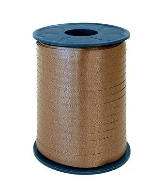 Gift Ribbon cappuccino brown 10mm x 250m Polyband ribbon Ring tape