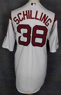 Scilling #38 Boston Red Sox Baseball Jersey Mens Xl Majestic