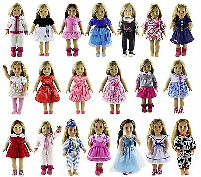 For 18'' American Girl Madame Alexander Doll Clothes Party Dress Shirt Miniskirt
