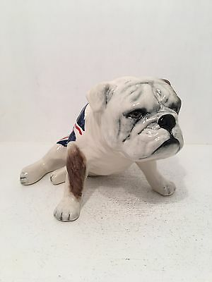 Carltonware Sitting British Bulldog with Union Jack *Perfect Condition*