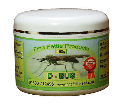 Fine Fettle Feeds D-Bug Ointment - 190 g - Fly, Louse & Insect Control