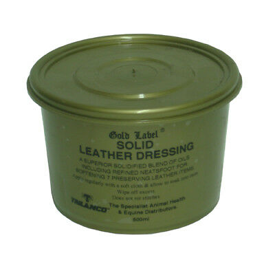Gold Label Solid Leather Dressing - 500ml - Leather Care