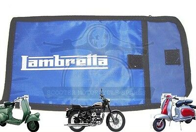 Lambretta Tool Kit Bag Woven Pouch Lambretta Logo Blue @uk