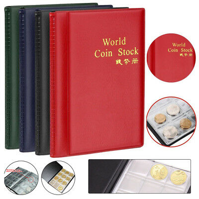 120 Coins Album Coin Money Penny Collecting Book Holders Collection Storage UK