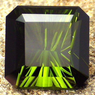 TOURMALINE-NIGERIA 8.11Ct FLAWLESS-LARGE-FOR JEWELRY-DEEP GREEN COLOR-READ!