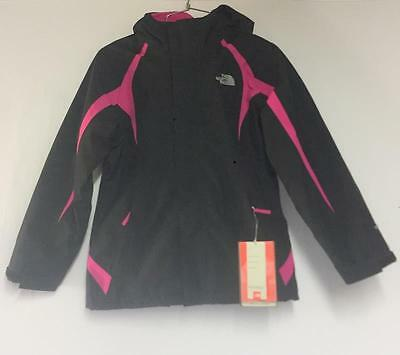 North Face Girls Mountain View Triclimate Snow Ski Jacket Black Pink Size XL NEW