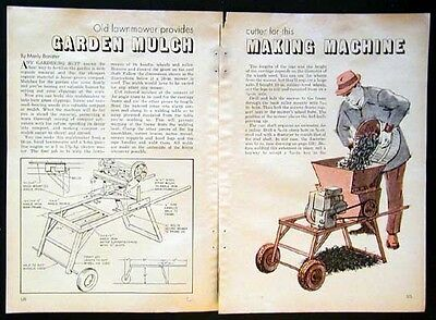 Mulcher Built from Old Reel type Lawn Mower How-To build PLANS