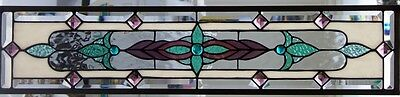 """Stained Glass window Sidelight or Transom  hanging 33 1/2 X 7 1/2"""""""