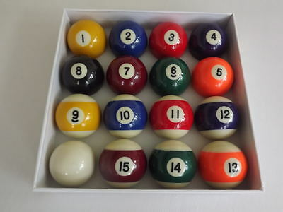 """SET 2"""" Uk SPOTS AND STRIPES QUALITY Competition / Match BALLS FOR POOL TABLES"""