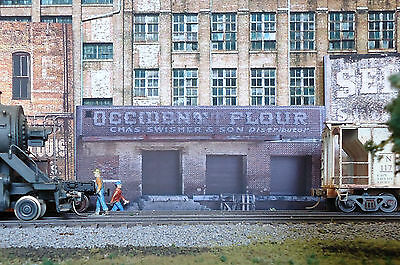 #323 O scale background building flat   OCCIDENT FLOUR   *FREE SHIPPING*
