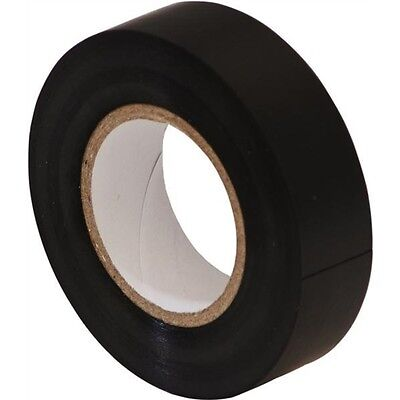 BLACK ELECTRICAL PVC INSULATION / INSULATING  TAPE 19mm x 33m FLAME RETARDANT