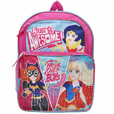 DC Superhero Wonder Woman Supergirl Batgirl Girls Backpack