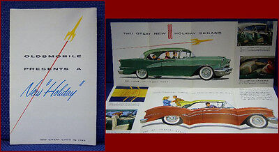 1955 OLDSMOBILE Holiday 88 Automobile Color Brochure - MINT New Old Stock