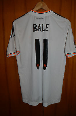Real Madrid Spain 2013/2014 Home Football Shirt Jersey Adidas #11 Bale Replica