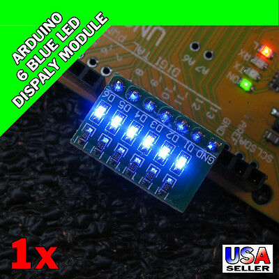Arduino 6 Blue LED Display Module Indicator AVR ARM UNO MEGA2560 Breadboard S18