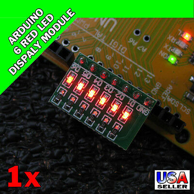 Arduino 6 Red LED Display Module Indicator AVR ARM UNO MEGA2560 Breadboard S17