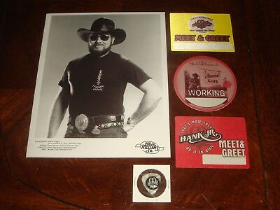 Lot Of 11 Hank Williams Jr Concert Memorabilia Backstage Passes, Publicity Still